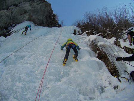 """Cascade de glace """"Entrelor"""" (Val d'Aoste, Italie)"""