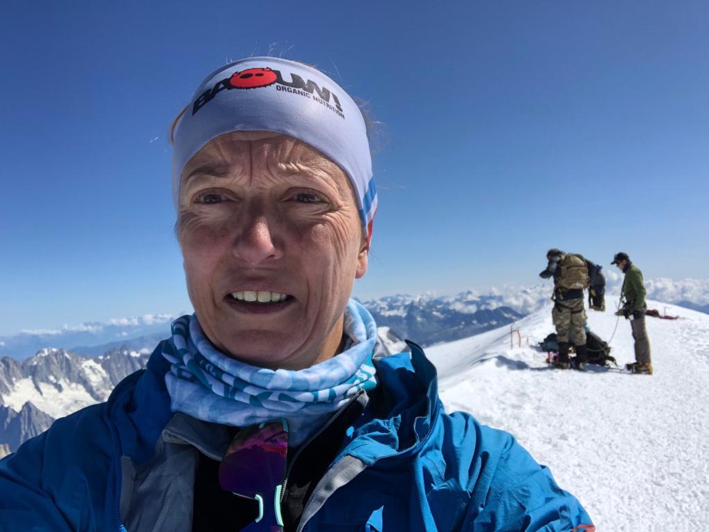 Anne-Catherine Péchinot, sommet du Mont Blanc le 26 Août 2019